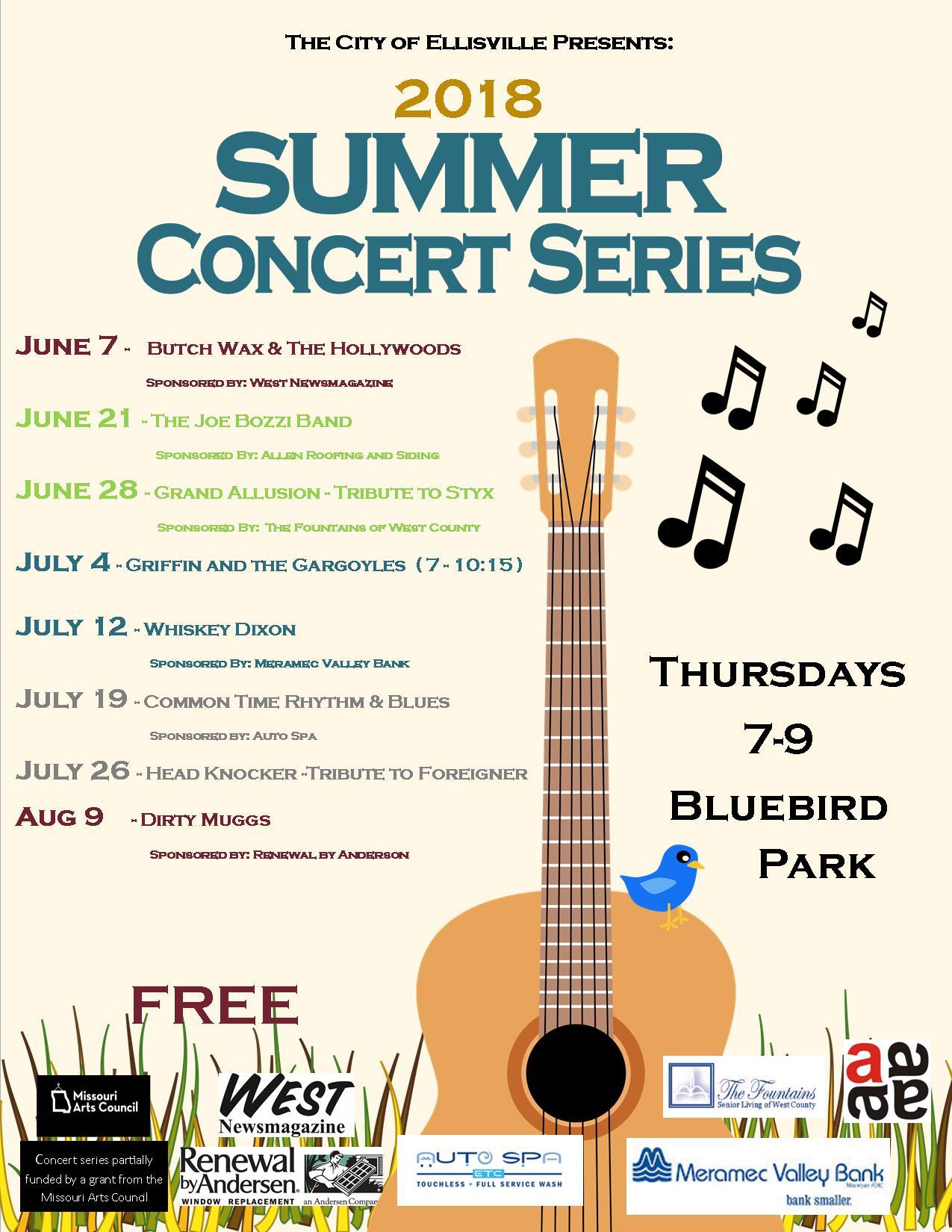 Summer Concert Series 2018 | Ellisville, MO - Official Website