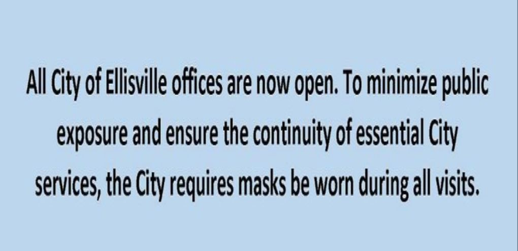 All City of Ellisville offices are now open